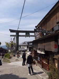 金峯山寺 銅鳥居付近