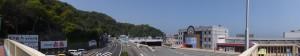 二見シーパラダイス前の歩道橋上からの風景(シーパラ方向)