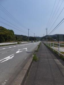 国道42号、民話の駅 蘇民付近