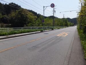 国道42号、池の浦バス停付近から松下方向へ