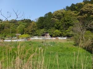 国道42号、松下跨線橋〜JR松下駅の途中