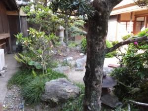 赤福 二見支店の中庭