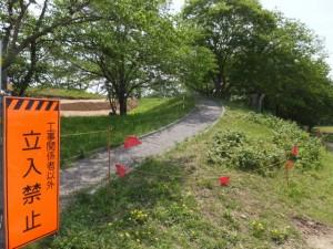 周防堤(改修工事が開始された宮川堤)