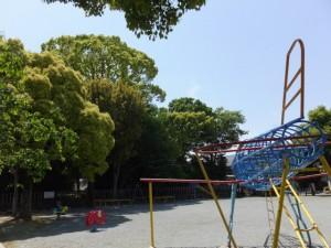 清之井公園と清野井庭神社の社叢