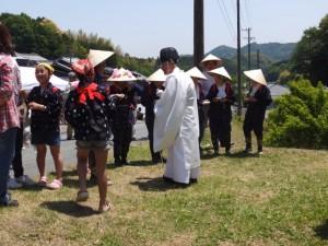 長谷の車田 御田植祭