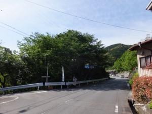 「多岐原神社へ、三瀬坂峠へ」道標付近