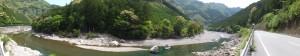 左岸から望む宮川(大台町滝谷の地名板〜大熊橋)