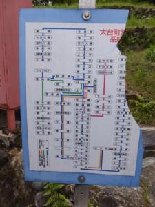 大台町営バス 路線系統図(上大井 バスのりば)