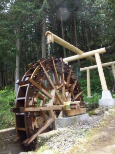 大井の水車(大井集会所付近)