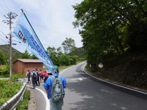 「ここは南 ←小滝」の案内板付近