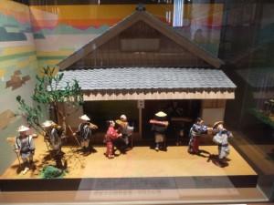 田丸での熊野古道への分かれ道(三重県熊野古道センター 展示棟)