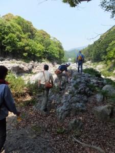 大滝峡(大内山川)