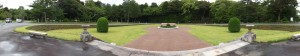 整備された神宮徴古館の庭
