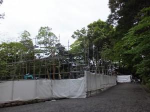 宿衛屋の移設場所(月讀宮)