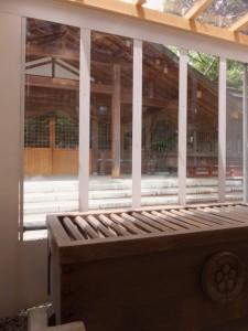 平成の御造営が開始されている猿田彦神社
