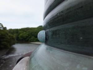 五十鈴川に架かる宇治橋の擬宝珠