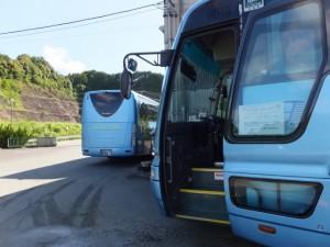 あじさいまつり シャトルバス(川原製茶資材置き場)
