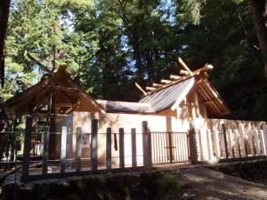 式年遷宮に向けて御造営が進む丹生神社(多気町丹生)