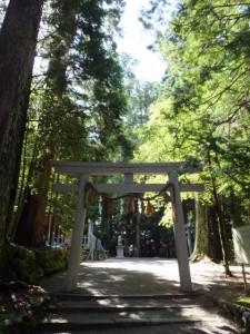 丹生神社、丹生大師側の鳥居(多気町丹生)