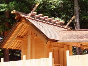 御遷座に向けて御造営が進められている佐那神社(多気町仁田)