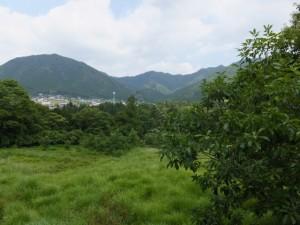 県道747号 打見大台線から望む茶臼山