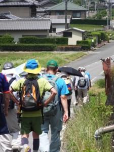 樋ノ谷遺跡付近から神の岩入口へ(県道747号 打見大台線)