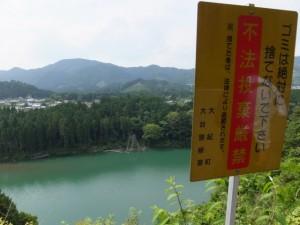 県道747号 打見大台線から望む宮川