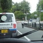 小型EVで伊勢めぐり 体験モニターツアー(古市街道から御幸道路へ、倭姫前交差点付近)