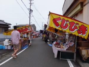 赤崎祭の露天(赤崎神社)