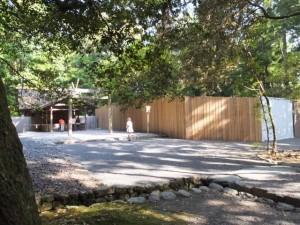 土宮と御造営の準備が開始された土宮の新御敷地