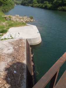 滝原ダム、長発電所へ導水するための取水口(大内山川)