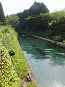 滝原ダムから長発電所への導水路にある沈砂池