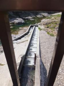 滝原ダムの魚道(大内山川)