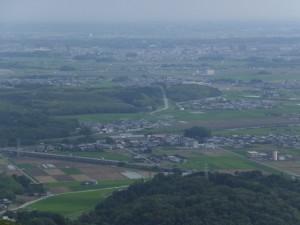 阿坂城(白米城)跡からの眺望