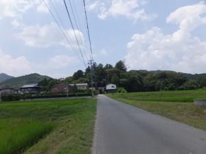 阿射加神社の参道(松阪市小阿坂町)