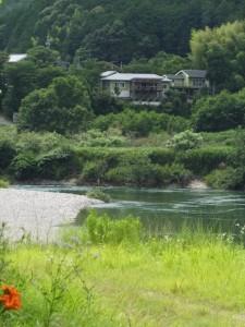 宮川の対岸を望む(度会町当津)