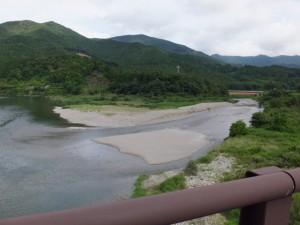 内城田大橋から望む宮川と一之瀬川の合流点