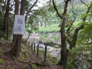 おんべまつり鮎占い神事の祭場(水戸神神社)