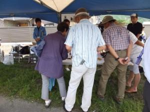 野添大辻遺跡(第3次)発掘調査での出土品展示