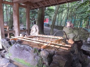 手水舎(椿大神社)