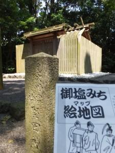 堅田神社と「御塩みち マップ 絵地図」