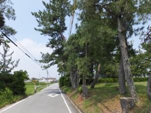 二見浦海水浴場付近から御塩殿神社へ