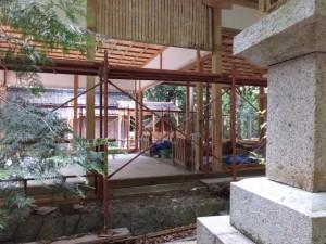 御遷座造営中の二見神社(姫宮稲荷神社)