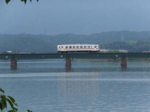 神都線 汐合鉄橋跡付近から望むJR参宮線