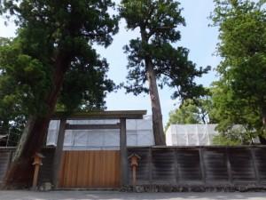 解体作業が進められる旧宮(外宮)
