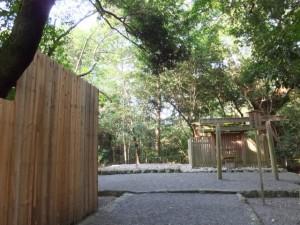 御造営が進められる新御敷地(月夜見宮)と高河原神社