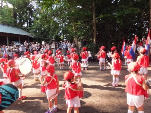 河崎の天王祭、有緝幼稚園の鼓笛(河邊七種神社)
