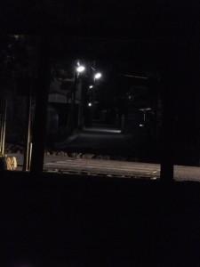 荒塩焚き上げ作業の夜(御塩殿神社)