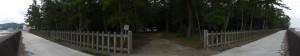 御塩殿神社、二見浦側の出入口(荒塩焚き上げ作業の日)