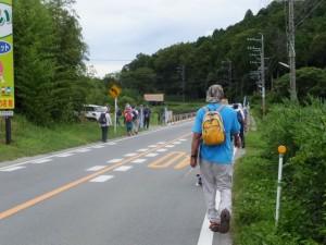 県道22号から宮川の堤防道路へ